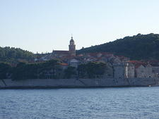Korčula Old town from ferry