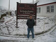 Me at Edradour - Scotland's Smallest (Whisky) Distillery