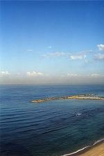 View of Mediterranean sea from near my hotel (Tel Aviv)