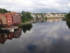 View from Bybrua bridge (Trondheim)