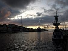 Sunset at Stavanger harbor