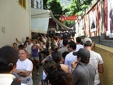 Waiting to buy train ticket to Corcovado (Christ the Redeemer)