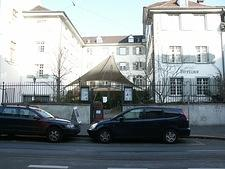 My hotel in Basel, Switzerland (Teufelhof Gallery)