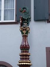 "Monument with ""Basilisk"" (legendary monster) (Basel, Switzerland)"